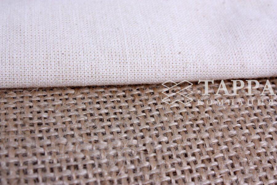 Ламинированная джутовая ткань и мешочки из неё.