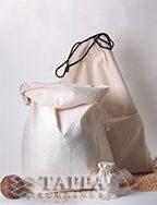 Мешки технические из суровой двунитки, дизайн №2 и дизайн №5 (маленький мешочек)