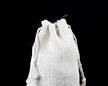 Мешочек из сизали 10×15 см — верх мешочка без кулиски и с двумя завязками
