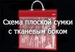 Схема плоской сумки с тканевым боком