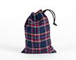 Мешочки из шотландки 15×20 см, дизайн №2, завязка-шнур