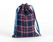 Мешочки из шотландки 15×20 см, дизайн №3, завязки-ленты