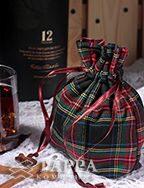 Мешочек из шотландки 10×15 см, дизайн №5